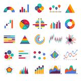 Vector set business graph and chart infographic diagram. Flat de. Sign concept Stock Images