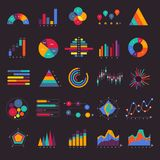 Vector set business graph and chart infographic diagram. Flat de. Sign concept Stock Photos