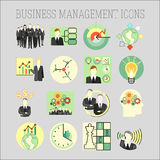 Vector set of a business and management icons Royalty Free Stock Images