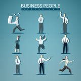 Vector set of business people Stock Photo