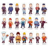 Vector set of business people, such as policeman Stock Image