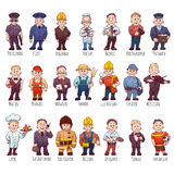 Vector set of business people, such as policeman Royalty Free Stock Photography