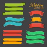Vector set of business ribbons vintage style for design Royalty Free Stock Images
