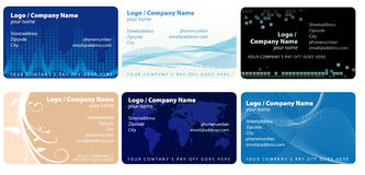 Vector set of businesscards. Abstract vector illustration of several businesscard layouts Stock Image