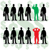 Vector set of businessman silhouette Stock Image