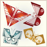 Vector set butterflies for design invitations, advertisements, g Stock Images