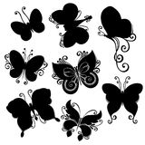 Vector Set of Butterflies Stock Photos