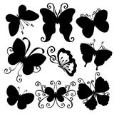 Vector Set of Butterflies Royalty Free Stock Image