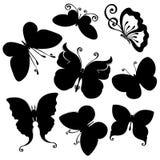 Vector Set of Butterflies Stock Photo