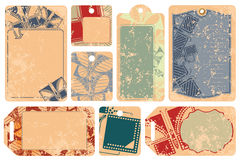 Vector set: Butterfly tags for a message Stock Photos
