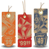 Vector set: Butterfly tags with a message about the sale Stock Image