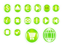 Vector set of buttons Royalty Free Stock Photography