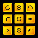 Vector set of buttons with arrows Royalty Free Stock Images