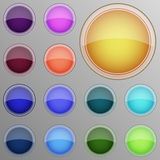 Vector set of buttons Stock Image