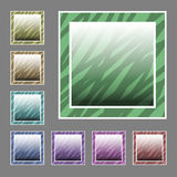 Vector set of buttons Royalty Free Stock Images