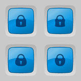 Vector set of buttons with locks. Stock Photography