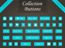 Vector set of buttons and web elements for design websites and a Stock Photos