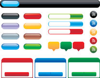 Vector set buttons for web interface Stock Photo