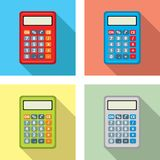 Vector set of calculator icons. flat graphic style. Vector set of calculator icons isolated on white background. colorful design of calculators for business Royalty Free Stock Images