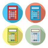 Vector set of calculator icons. Isolated on white background. colorful design of calculators for business, finance accounting and algebra illustrations, flat Stock Photography