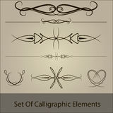 Vector set of calliggraphic Stock Image