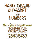 Vector set of calligraphic acrylic or ink alphabet. White background. Stock Photography