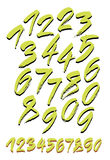 Vector set of calligraphic acrylic or ink numbers Stock Photo