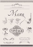 Vector Set: Calligraphic Design Elements Royalty Free Stock Photo