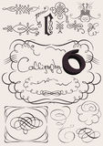 Vector set: calligraphic design elements Stock Photo