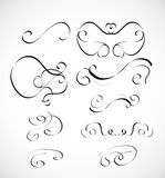 Vector set of calligraphic design elements Stock Photos