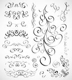Vector set of calligraphic design elements Royalty Free Stock Image