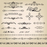 Vector set: calligraphic design elements Stock Photography