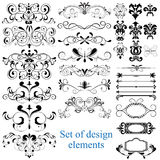Vector set of calligraphic design elements Stock Photography