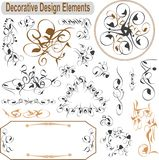Vector set calligraphic design elements decoration Royalty Free Stock Images