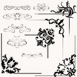 Vector set of calligraphic design Stock Images