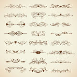 Vector set of calligraphic design elements Stock Image