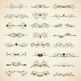 Vector set of calligraphic design elements Stock Image