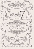 Vector set: calligraphic design elements and page  Stock Photo