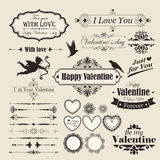 Vector set calligraphic design elements and page decoration, Pre Stock Image