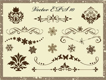 Vector set: calligraphic design elements and page decoration Royalty Free Stock Photography