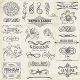 Calligraphic Design Elements Stock Image
