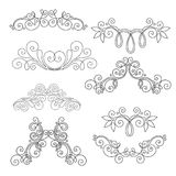 Vector Set of Calligraphic Design Elements and Page Decorations Royalty Free Stock Photography