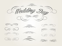 Vector set of calligraphic design elements for wed Royalty Free Stock Photo