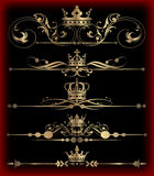 Vector set. Calligraphic design elements for your design. Royalty Free Stock Photo