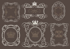 Vector set. Calligraphic design elements for your design. Stock Photo