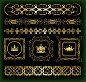 Vector set. Calligraphic design elements for your design. Stock Photos