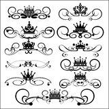 Vector set. Calligraphic design elements for your design. Royalty Free Stock Photography