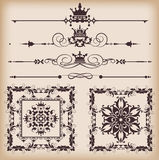 Vector set. Calligraphic design elements for your design. Stock Images