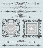 Vector set. Calligraphic design elements for your design. Royalty Free Stock Image