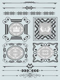 Vector set. Calligraphic design elements for your design. Royalty Free Stock Photos